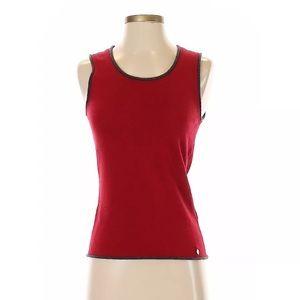 NWT Escada Women Red Crewneck Pullover Sweater XS